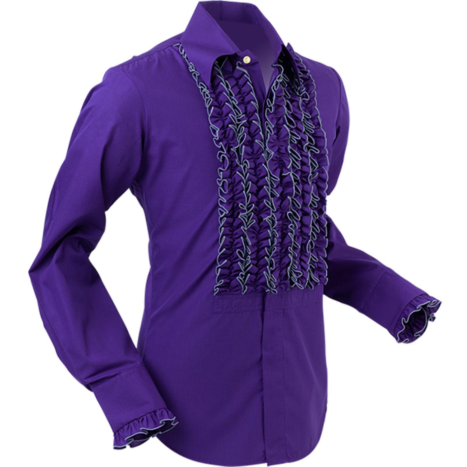 Womens Purple Checked Shirt