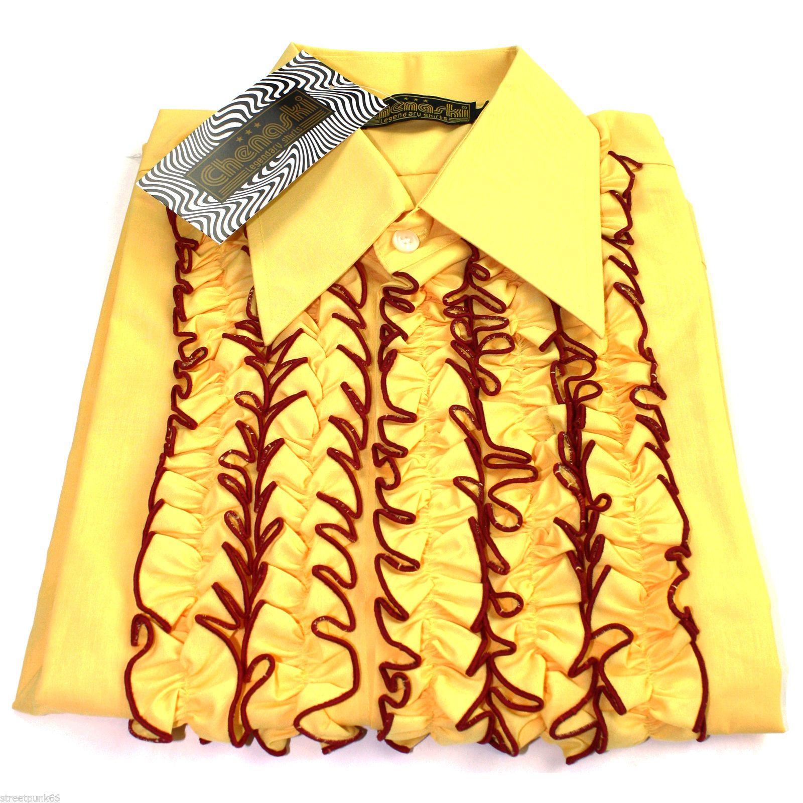 Yellow Gingham Mens Shirt