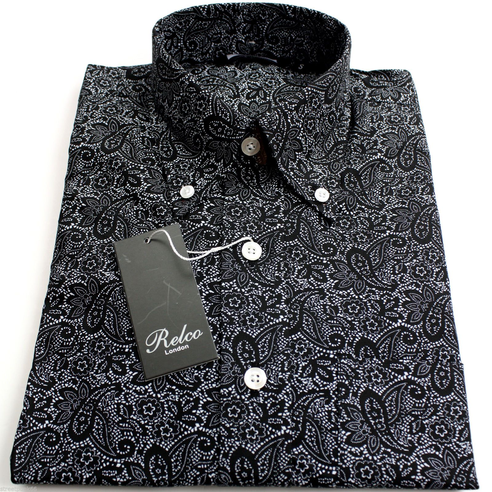 Black Polka Dot Shirt Men